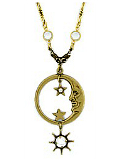 crop celestial necklace sagittarius sequin gold products