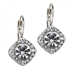 Tiffany Inspired Legacy Style Lever Back Earrings Austrian Crystal