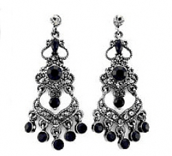 Vintage look victorian style cascading chandelier earrings jet vintage look victorian style cascading chandelier earrings jet login for wholesale aloadofball Gallery