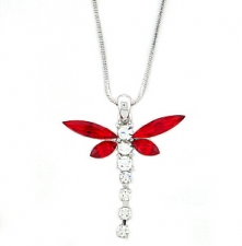 dragonfly fashion jewelry,dragonfly necklace,austrian crystal dragonfly necklace