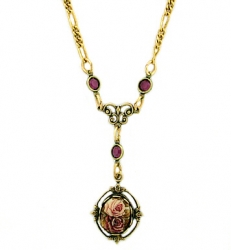 vintage Victorian style fashion costume pendant