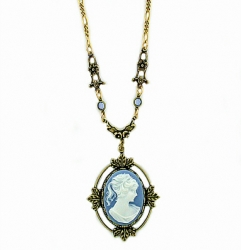 vintage look Victorian style cameo necklace