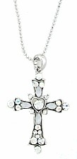 Vintage Victorian Austrian Crystal Cross Necklace