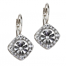 Tiffany Legacy Style Austrian Crystal Lever Back Earrings
