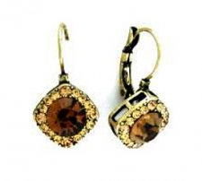 Tiffany Legacy Style Topaz Austrian Crystal Lever Back Earrings