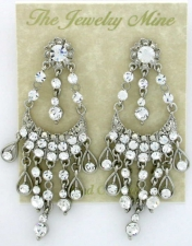 Vintage Victorian Style Austrian Crystal Chandelier Earrings
