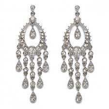 Vintage Style Cascading Chandelier Earrings