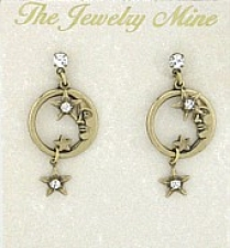 moon & star costume earrings