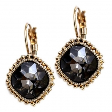 Vintage Style Austrian Crystal Lever Back Earrings