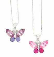 butterfly necklace,crystal butterfly necklace,austrian crystal butterfly necklace