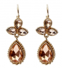 vintage inspired austrian crystal earrings