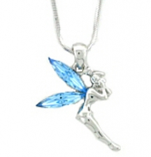 tinker bell necklace,tinker bell pendant,tinker bell jewelry,austrian crystal tinker bell necklace,tinker bell fashion jewelry