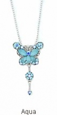 austrian crystal butterfly necklace