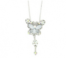 butterfly necklace,butterfly fashion  jewelry,austrian crystal butterfly necklace