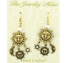 celestial chandelier earrings