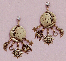 celestial style chandelier earrings