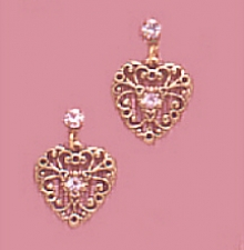 victorian heart earrings,vintage heart earrings,heart earrings,antique heart earrings,vintage fashion jewelry,victorian jewelry