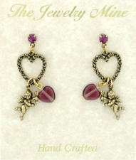 victorian fashion heart earrings