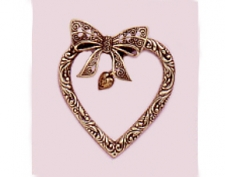 victorian heart brooch