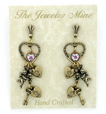 vintage victorian style chandelier earrings