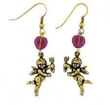 vintage cherubs and hearts fashion earrings