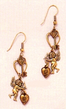 angel fashion earrings,angel charm earrings,antique angel earrings,victorian angel earrings