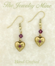 Vintage Puffed Heart Earrings