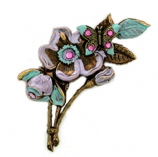 fashion jewelry flower brooch