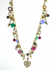 Victorian romance vintage fashion charm necklace