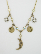 celestial jewelry,celestial charm necklace