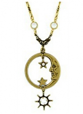 vintage celestial jewelry,vintage fashion jewelry,moon necklace,moon pendant
