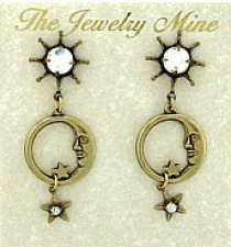 moon earrings,celestial fashion earrings