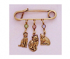 fashion jewelry cat pin,cat charm pin