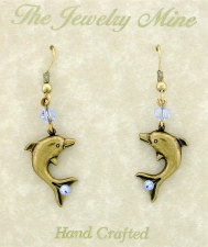 dolphin earrings,nautical fashion jewelry