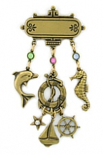 nautical charm pin,nautical fashion jewelry