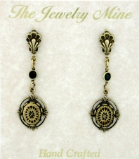 Vintage Art Deco Style Drop Earrings - Intaglio