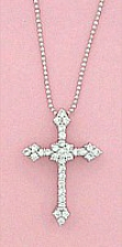 cz cross necklace,cross necklace,cross pendant,cross fashion jewelry,cross costume jewelry,crystal cross,silver cross