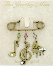 music charm pin,music note jewelry