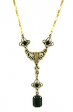 Vintage Victorian Style Antique Reproduction Austrian Crystal Necklace