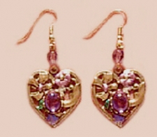 fashion jewelry heart earrings,victorian heart earrings,vintage heart earrings,antique fashion heart earrings
