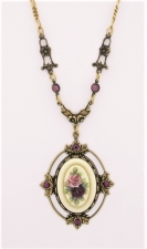 vintage Victorian style fashion costume necklace