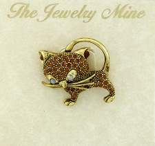 cat jewelry,cat brooch pin