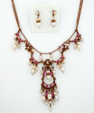 Vintage Reproduction Victorian Style Pearl Necklace Set
