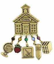 school teacher charm pin,school teacher jewelry