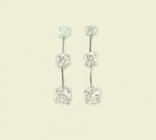 past present future cz earrings