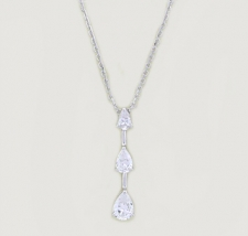 past present future cz necklace