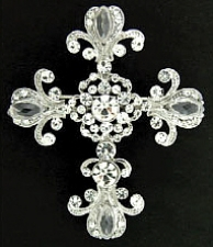 fashion jewelry cross brooch