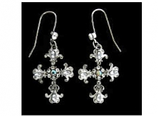 vintage fashion jewelry cross earrings