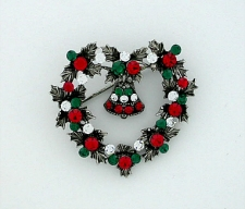 vintage costume jewelry christmas pins